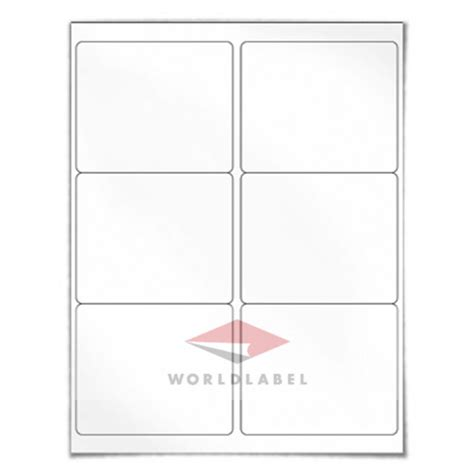 3 labels per sheet template wl 150wx 4 x 3 33 quot 1000 sheets shipping labels uses