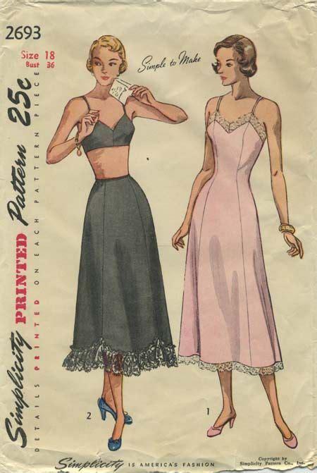 vintage underwear pattern vintage lingerie sewing pattern simplicity 2693 year