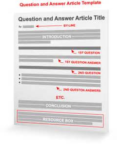 answer template question answer article template