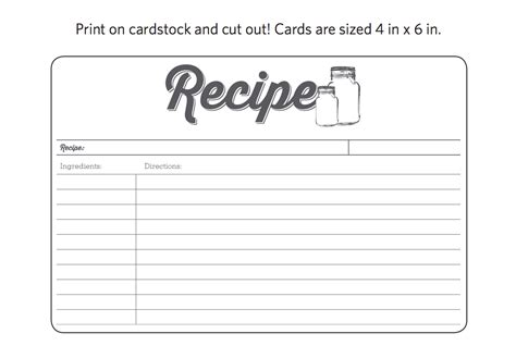 printable recipe cards for www imgkid the