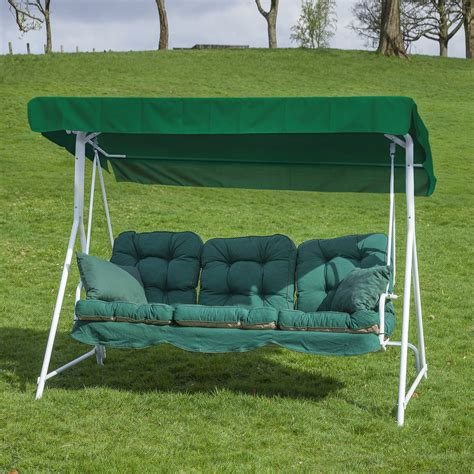 swing seat cushions garden patio 3 seater white swing seat hammock with