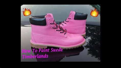 How To Paint Suede Timberlands Customize Angelus