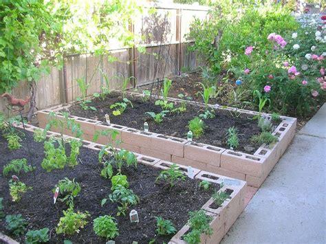 raised garden with cinder blocks raised garden beds cinder blocks building a raised bed