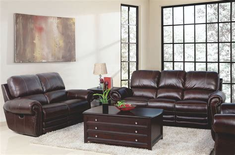 gaia white leather power reclining living room set from rossi dark brown power reclining living room set from new