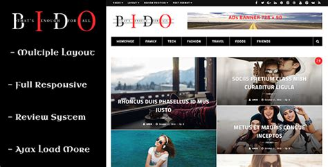 blogger zeitschrift bido wordpress blog zeitschrift thema webdesign