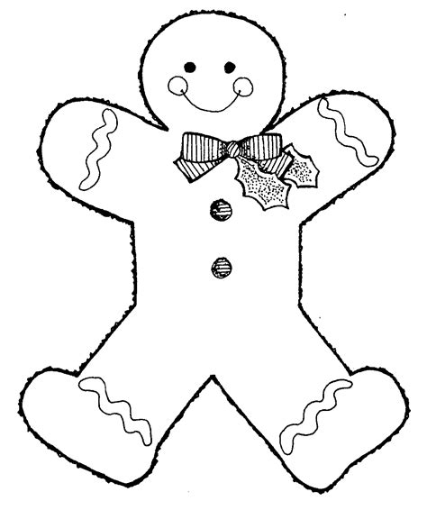 gingerbread man blank coloring page free printable gingerbread man coloring pages for kids