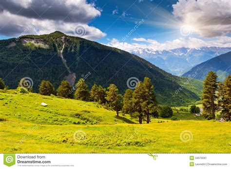 beautify worldwide mountain landscape stock image image of cloud flora