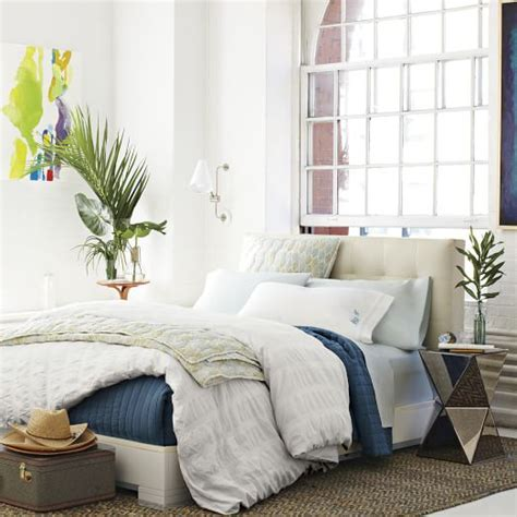 west elm leather headboard low leather grid tufted headboard west elm