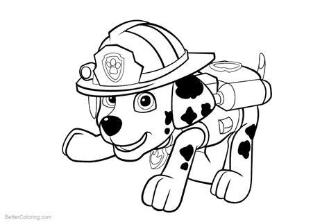 paw patrol marshall coloring page paw patrol coloring pages marshall free printable