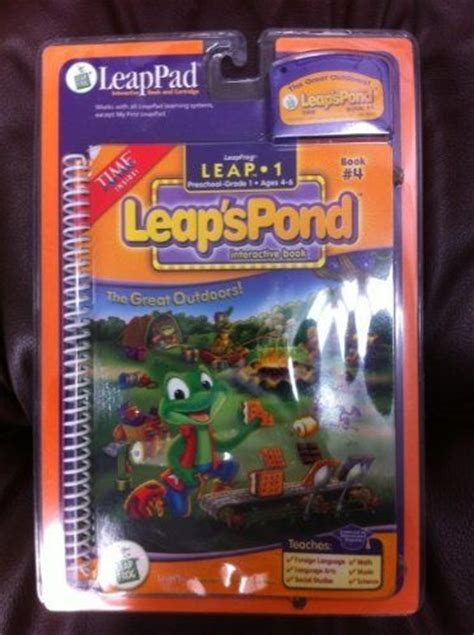 Leapfrog Leappad Learning Center Interactive Book Cartridge Phonic leap s pond the great outdoors book 4 leappad interactive book and cartridge in plastic