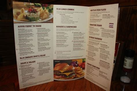 outback steak house menu menu picture of outback steakhouse farmington tripadvisor