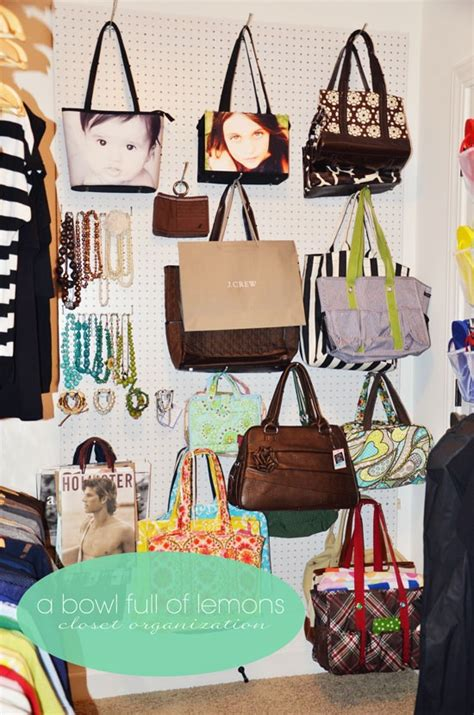 Storing Handbags In A Closet by Organizing And Storing Handbags Organize And Decorate
