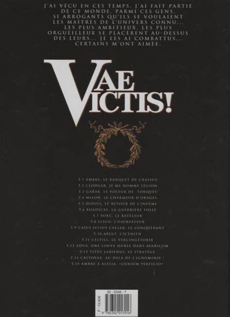 Vae Victis 1 Ambre Le Banquet De Crassus