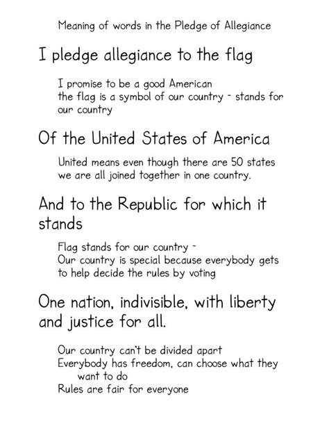 printable lyrics to the pledge of allegiance 25 best ideas about pledge of allegiance on pinterest