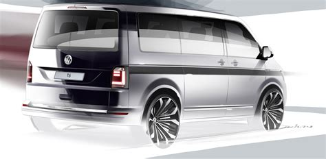 volkswagen multivan sixth gen volkswagen transporter previewed in design