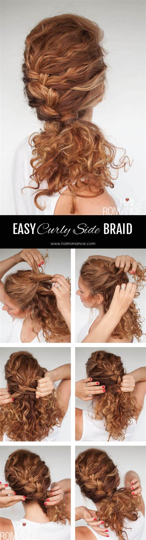 Curly Hairstyles For Tutorial by Easy Everyday Curly Hairstyle Tutorials The Curly Side Braid