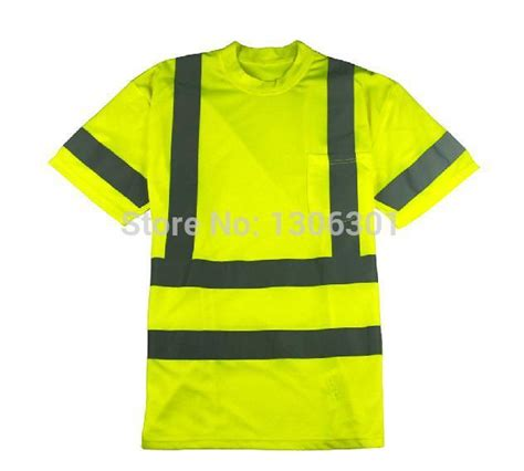 quality fluorescent reflective t shirt traffic