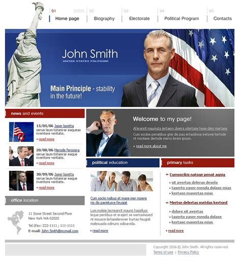 Political Candidate Website Template Web Design Templates Website Templates Download Candidate Website Template