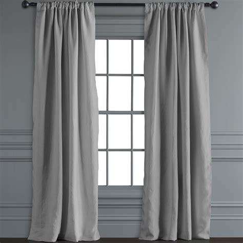 smoke grey curtains belgian linen rod pocket drape smoke grey williams sonoma