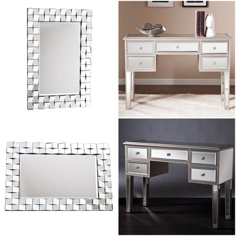 Mirrored Vanity Desk by Mirrored Vanity Desk Table And Mirror Set Furniture