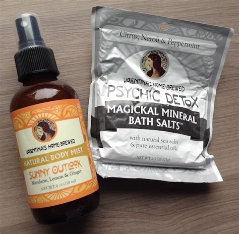 Valentina S Home Brewed Mist Psychic Detox by Yogi Subscription Box Review November 2014 My