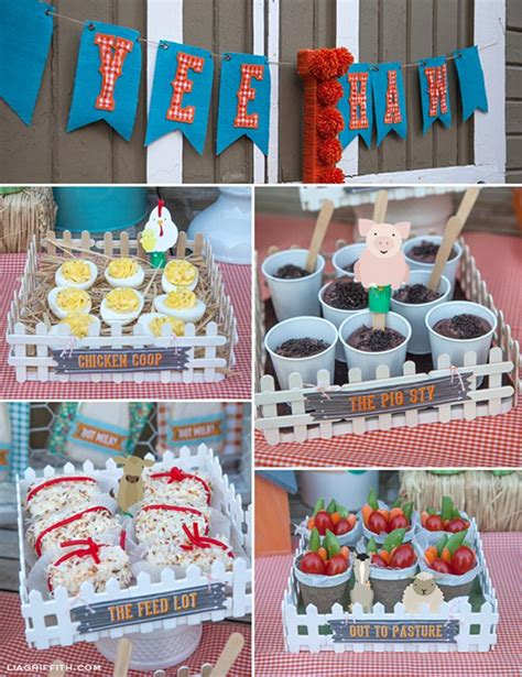 farm themed birthday decorations kara s ideas farm birthday planning ideas