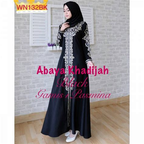 Grosir Gamis Katun Amuzen Bordir Set Khimar baju muslim pesta bordir abaya khadijah grosir gamis murah