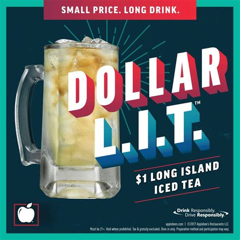 Drink Of The Month Alabama Iced Tea Ni by Happy Hour Dollar L I T S All December At Applebee S