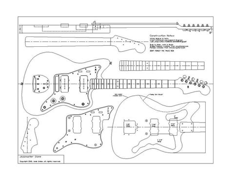 fender jazzmaster template planos fender 62 jazzmaster pastrana guitars