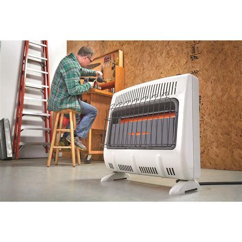 propane heater with fan mr heater propane garage heater 30 000 btus 648955