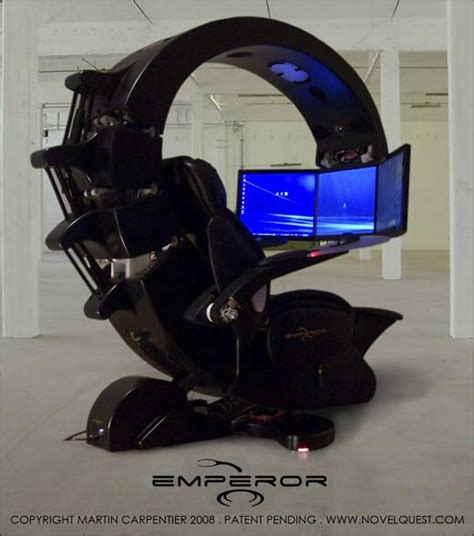 ultimate gaming chair setup the emperor a workstation fit for a king hothardware