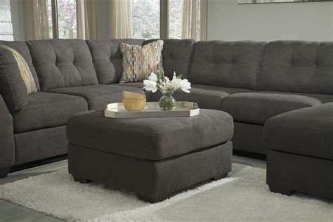 Large Microfiber Sectional Molly 4pc Right Chaise Sectional Modern Contemporary Gray