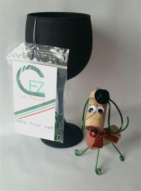 how to make a dog cork ornament diy wine cork ornament kit make your own ornament wine