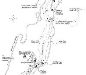 Silver Falls State Park Map by Silver Falls Trail Mount Rainier Washington