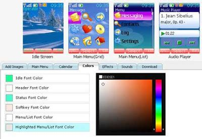 theme maker online for mobile online theme creator for sony ericsson and nokia mobile phone
