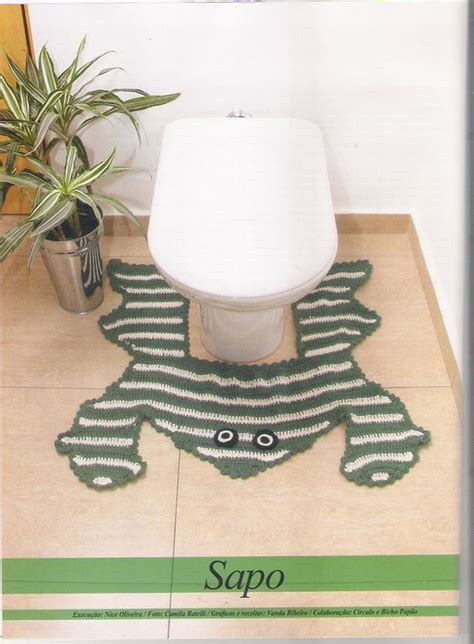 frog bathroom rug frog bathroom rug with diagram i would to make this but pattern is in a different launguage