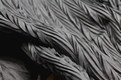 pleated silk fabric quality fabric pleated silk silk organza black