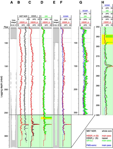 pattern analysis tamu figure f38 depth shifting of downhole logging data a