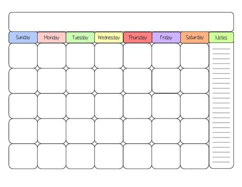 Printable Calendar Layout | free printable calendar templates print blank calendars
