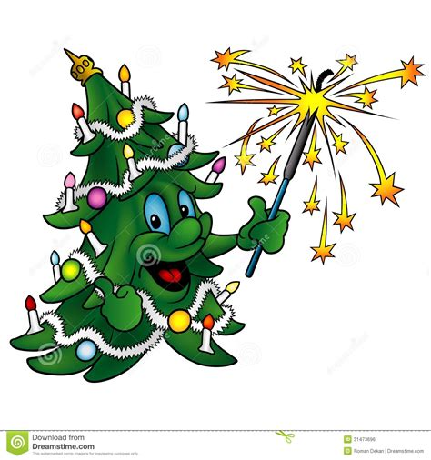 happy christmas tree royalty free stock image image