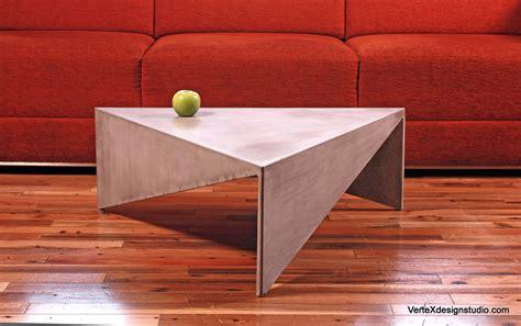 small concrete coffee table concrete triangle coffee table