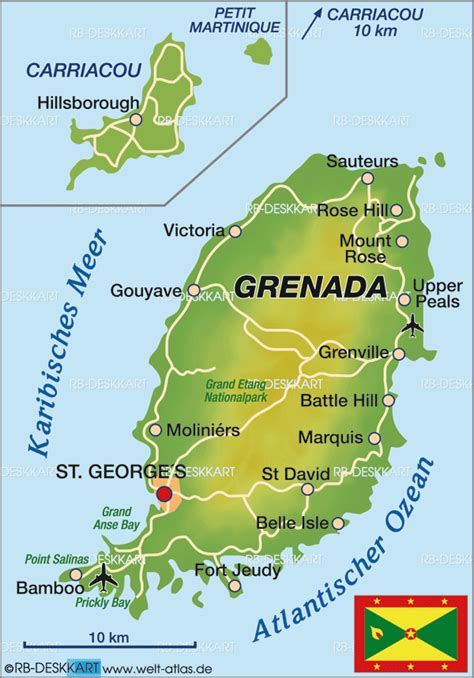 world map grenada map of grenada map in the atlas of the world world atlas