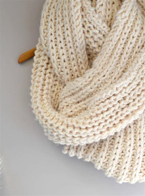 knit for big knit scarf pattern in a stitch
