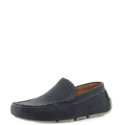 mens blue leather loafers mens clarks davont drive blue nubuck leather driving