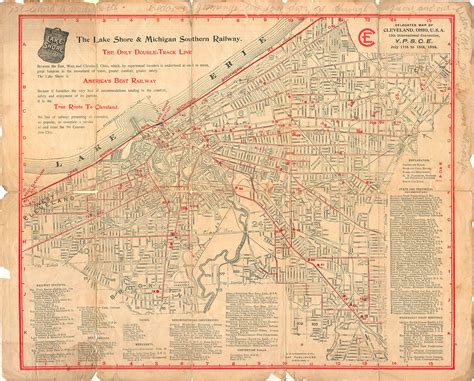 cleveland map two pages jpg 2412 215 1675 vintage printed matter