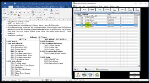 cara membuat jurnal umum myob belajar myob accounting cara membuat akun liability atau