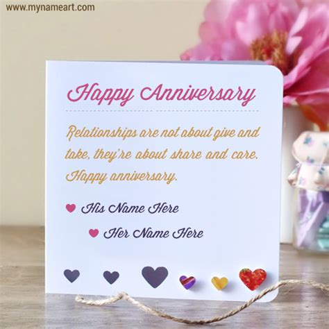 Wedding Anniversary Wishes Card With Name Edit by Anniversary Wishes For Couples Name Edit Wishes