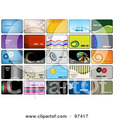 digital collage of business card template designs posters