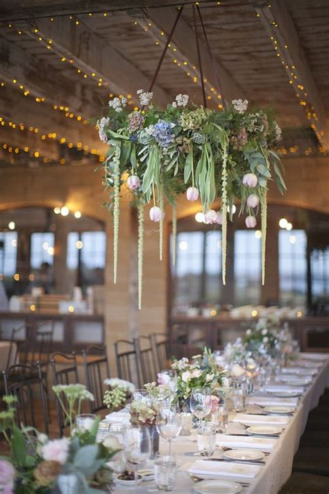 Green Chandelier Crystals 36 Gorgeous Spring Wedding Florals Ideas To Steal