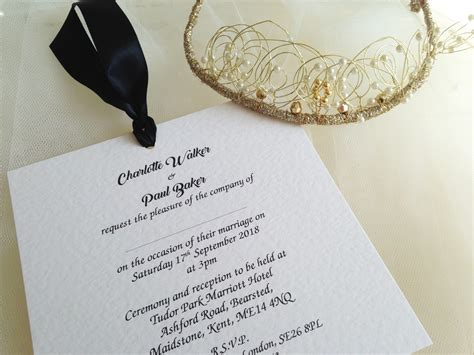 wedding invitations guest names printed chantilly wedding invites wedding invitations from 163 1 each